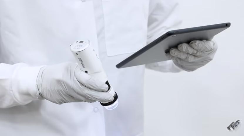 Dinolite wireless dengan tablet