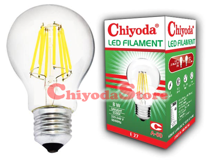 LED FILAMENT A-60 8W E27 Photo