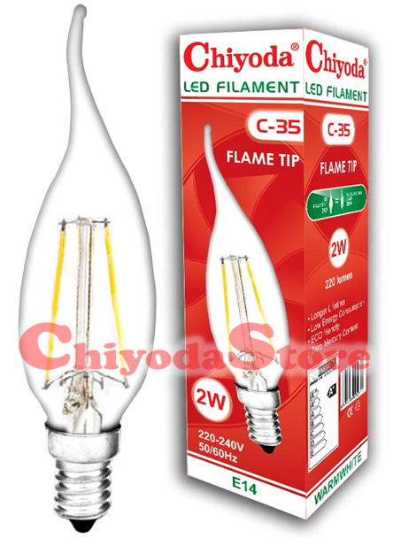 LED FILAMENT C-35 2W Flame Type E14/E27 Photo