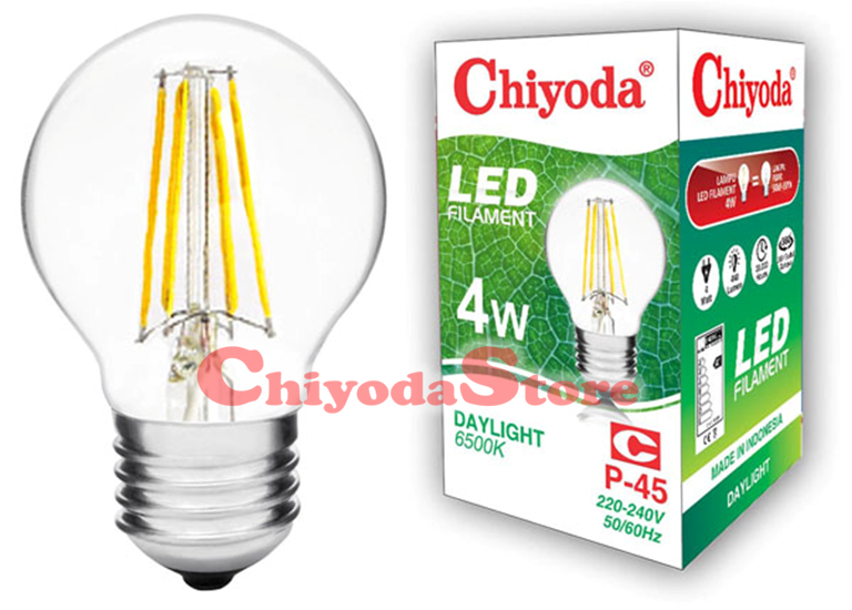 LED FILAMENT P-45 2W E14/E27 Photo