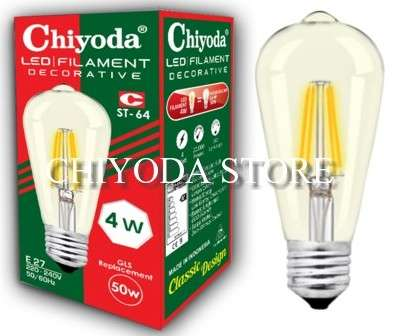 LED FILAMENT ST-64 4W E27 Photo