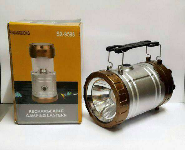 Lentera tarik solar cell + Senter SX-9598 Photo