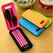 Sendok Makan Travel - Alat Makan Portable (sendok,garpu,sumpit) Photo