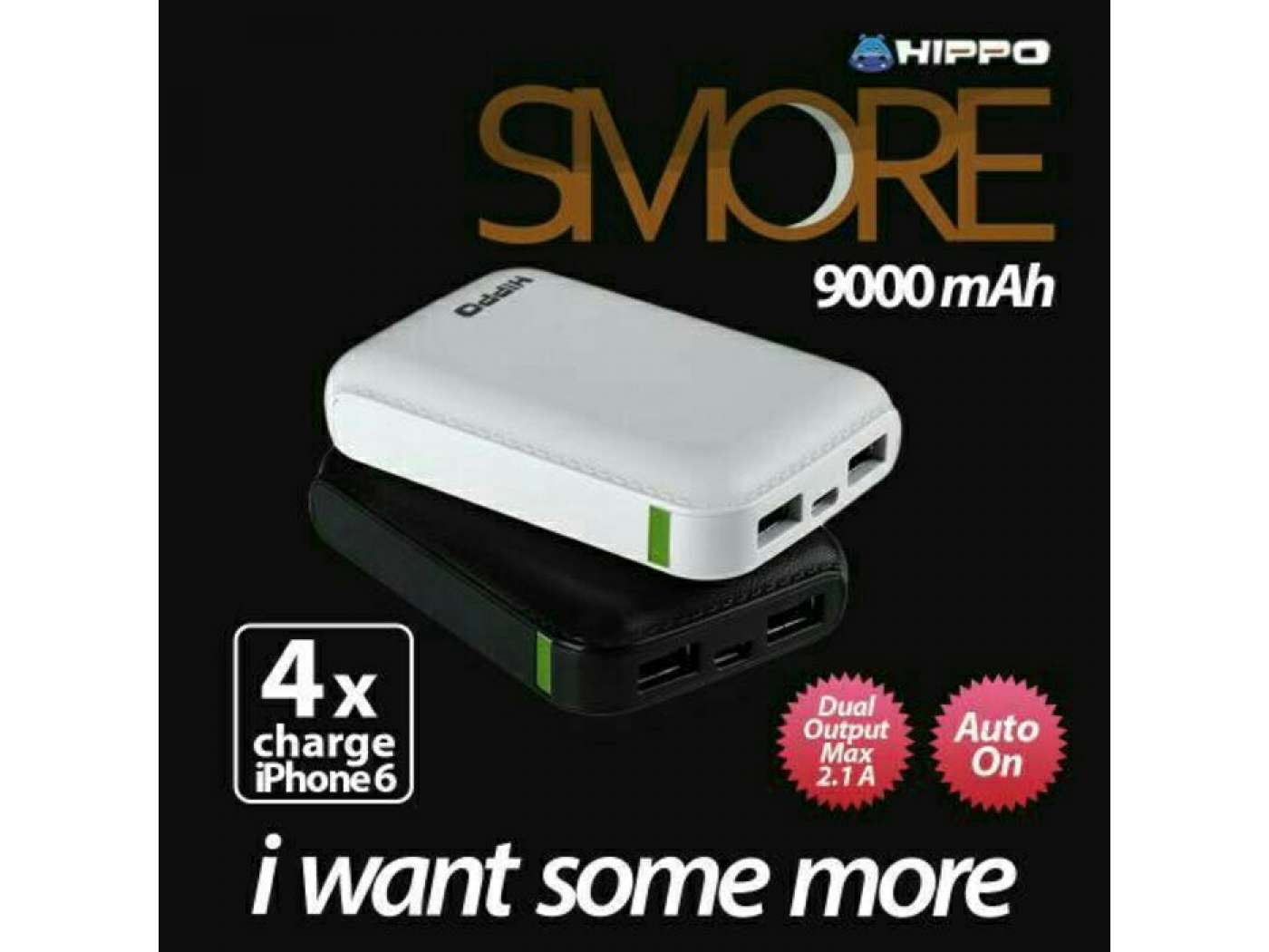 Power Bank HIPPO SMORE 9000 mAh Free VOYAGER (Mini Travel Bag)