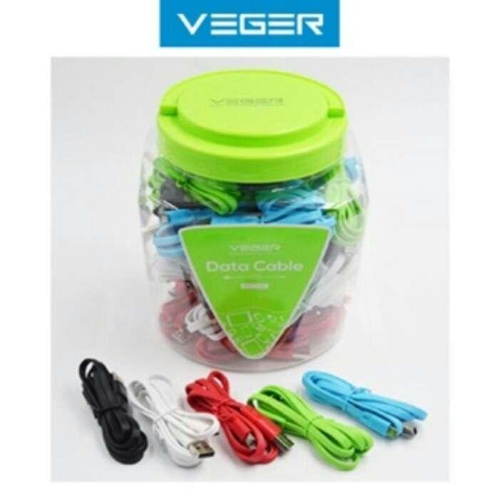 Kabel Data VEGER Fetuchinne Micro USB 1meter (1 Toples) Photo