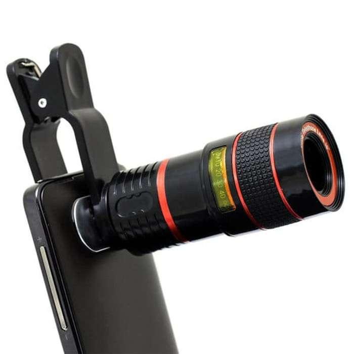Lensa Telezoom Jepit 8x Optical Zoom - Telescope jepit For Phone Photo