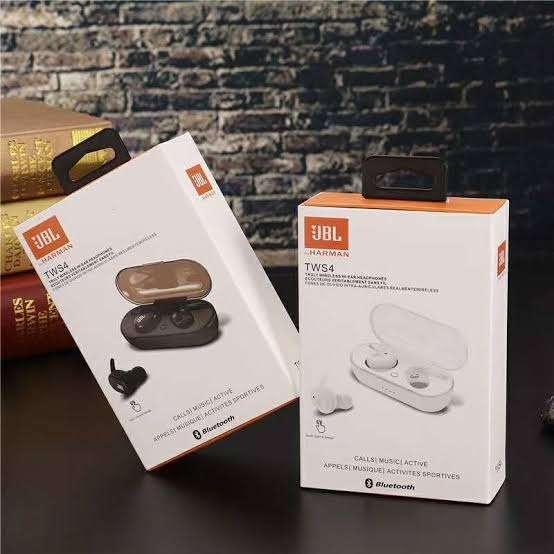 Headset Bluetooth Jbl Tws 4 High Quality Stereo Earph