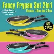 Maspion FANCY FRY PAN Set 2in1 - Teflon Warna 18cm dan 23cm - Biru Muda Photo