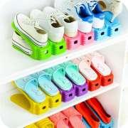 Rak Tempat Sepatu Sandal Hemat Tempat - Adjustable Shoes Organizer Photo