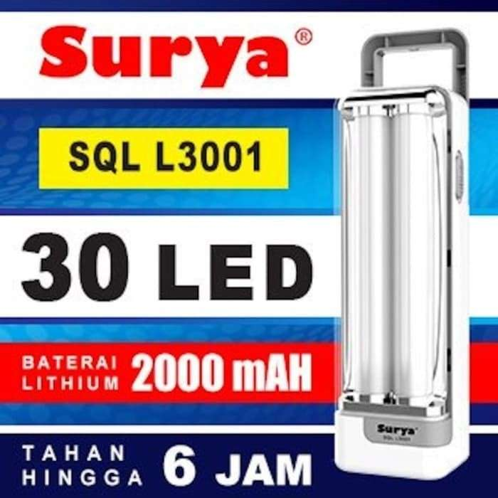 Lampu Darurat Emergency SURYA SQL L3001 30 SMD LED Rechargeable Photo