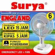 Kipas Angin Lampu Emergency SURYA ENGLAND SDR 22 6inch SNI Photo