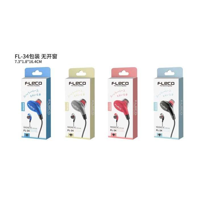 Headset FLECO FL-34 Magnetic Earphone Photo