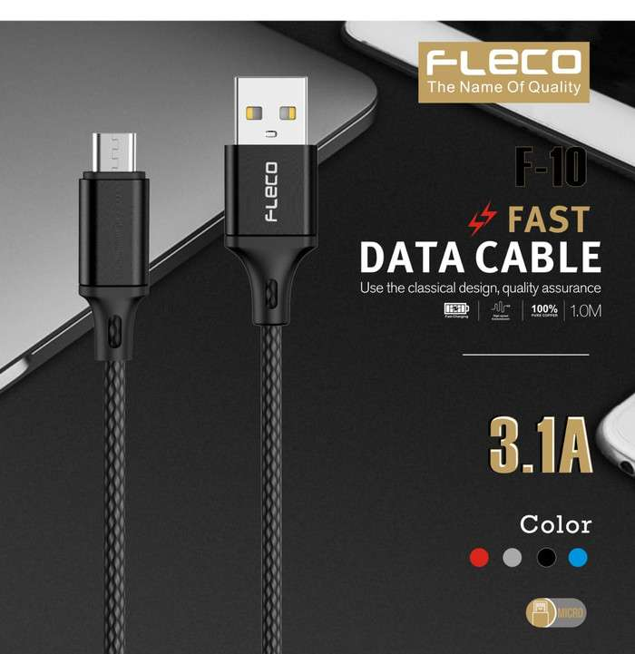 Kabel Data FLECO F-10 STRONG Series 3.1A - MICRO USB Photo