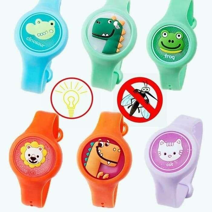 Gelang Anti Nyamuk Bayi / Anak LED Gambar Kartun Lucu Essential Oil Photo