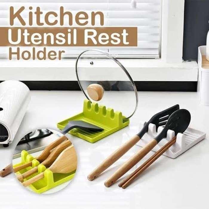 Tatakan Tempat Spatula Holder Tutup Panci - kitchen Rack Spoon pad Photo