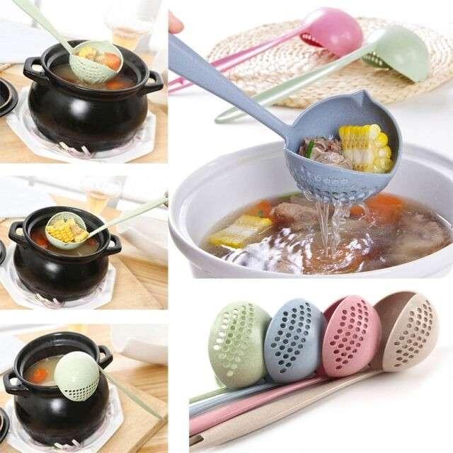 Centong Sendok Soup Saringan Kuah 2 IN 1 - Penyaring kuah Sup Hot Pot Photo