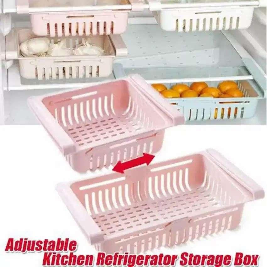 RAK KULKAS ORGANIZER SLIDING - Laci Penyimpanan Makanan Multifungsi Photo