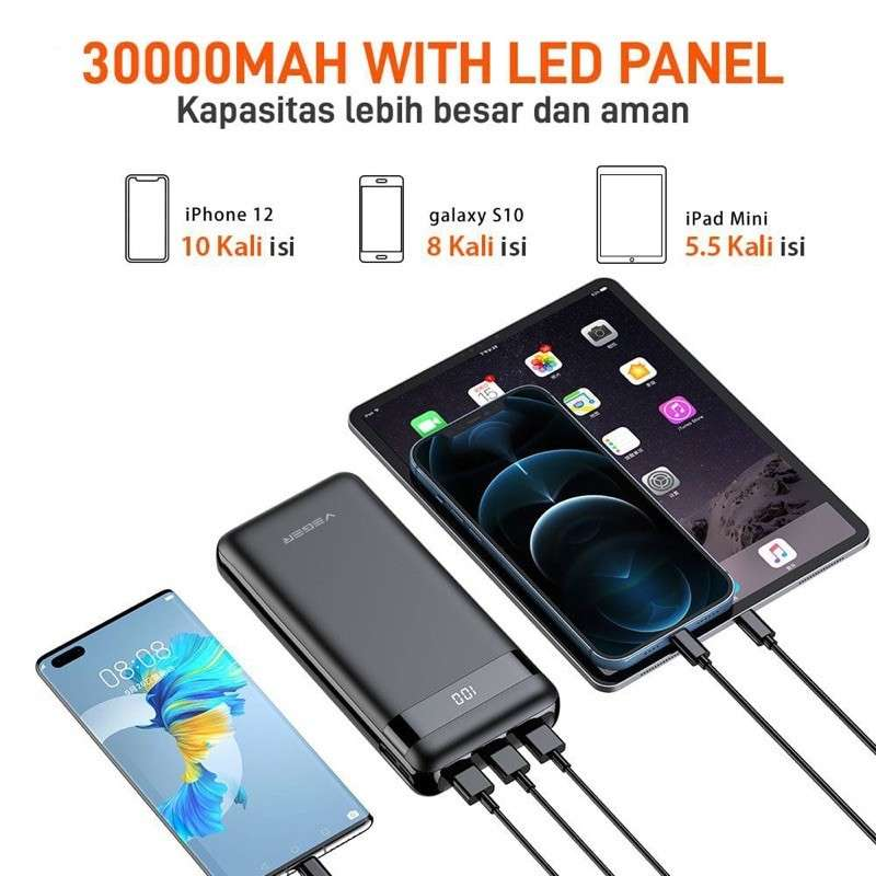 Power Bank VEGER V31 ULTIMATE 30000 mAh LED display Photo