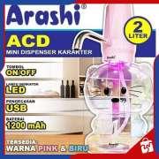 DISPENSER AIR Mini Karakter 2 liter ARASHI - Pompa Air Elektrik LED Photo