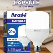 Bohlam Lampu LED ARASHI CAPSULE 5W 10W 15W 20W Cahaya Putih - 20 WATT Photo