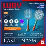 RAKET NYAMUK Cas LUBY L-3853 + Lampu Indikator LED Photo