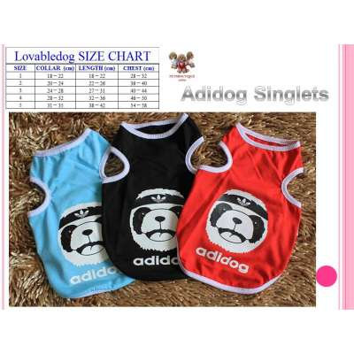 Pet Singlet Tops - Adidog Photo