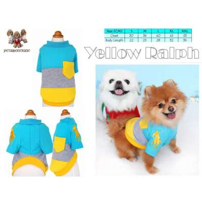 Pet Polo Tee - Blue - Ralph Polo Embroidery with Pocket Photo