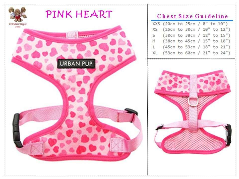 Pet Harness - Pink Lovely Heart Photo