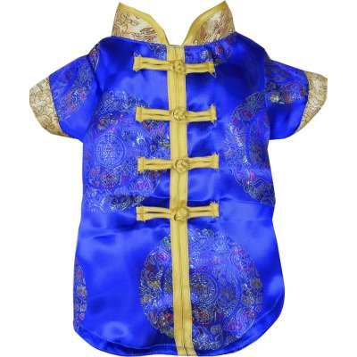 Blue Pet Cheongsam CNY Costume Photo