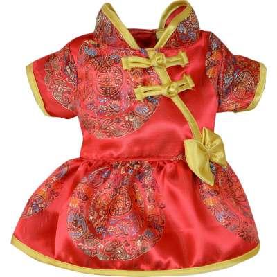 Red Dress Pet Cheongsam CNY Costume Photo