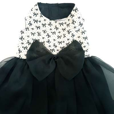 Pet Dress - Ribbon Black Photo