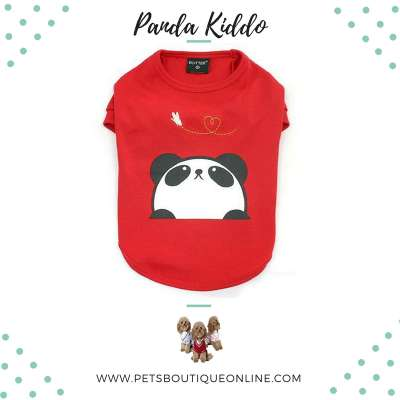 Pet T-shirt - Panda Kiddo Photo