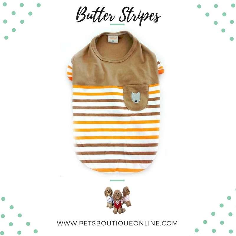 Pet T-shirt - Butter Stripes Photo