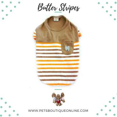 Pet T-shirt - Butter Stripes Photo