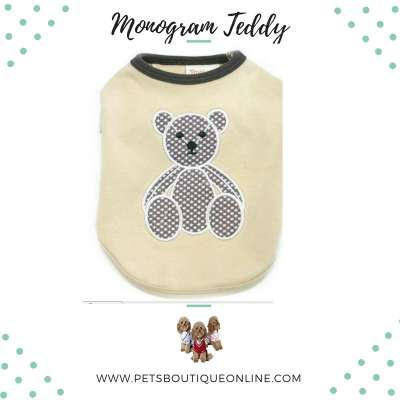 Pet T-shirt - Monogram Teddy Photo