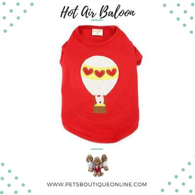 Pet T-shirt - Hot Air Balloon Photo