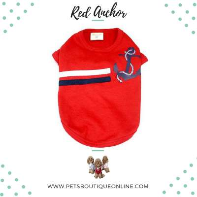 Pet T-shirt - Red Anchor Photo