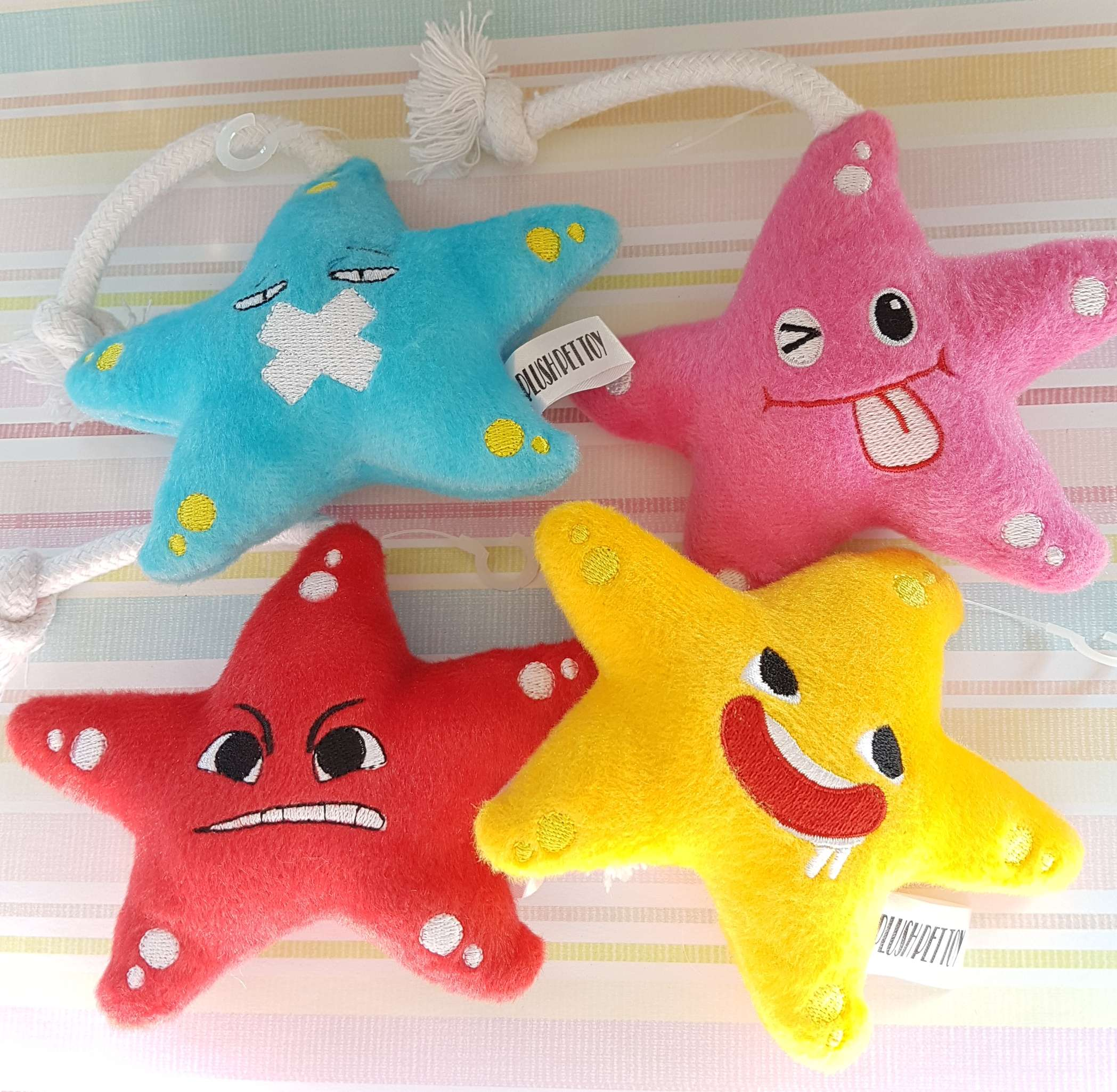 Star Fish Plush Pet Toy with Loud Squeaky Sound Photo