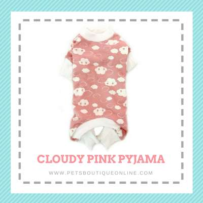 Pet Pyjama All in One Jumper - Cloudy Pink Photo