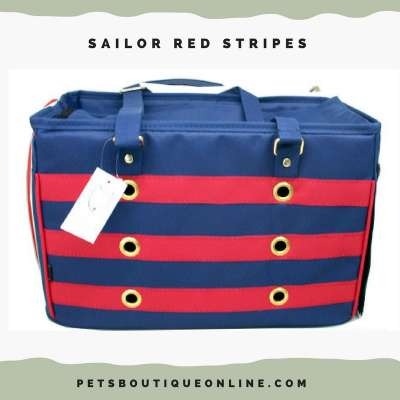 Pet Carrier - Sailor Red Stripes Photo