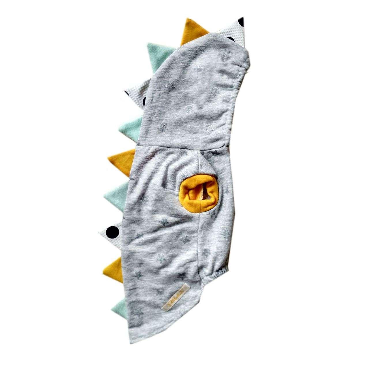 Pet Hoodie - Grey Dinosaurus Photo