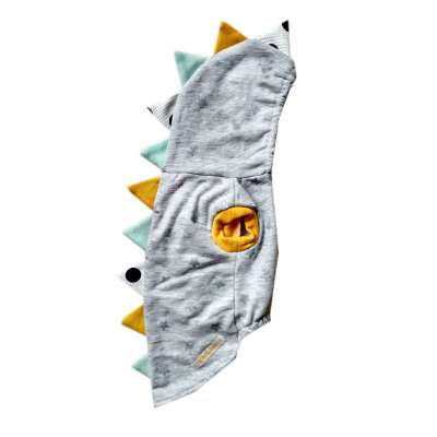 Pet Hoodie - Grey Dinosaurus Photo