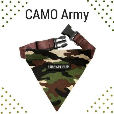 Bandana Collar - Camoflauge Army Photo