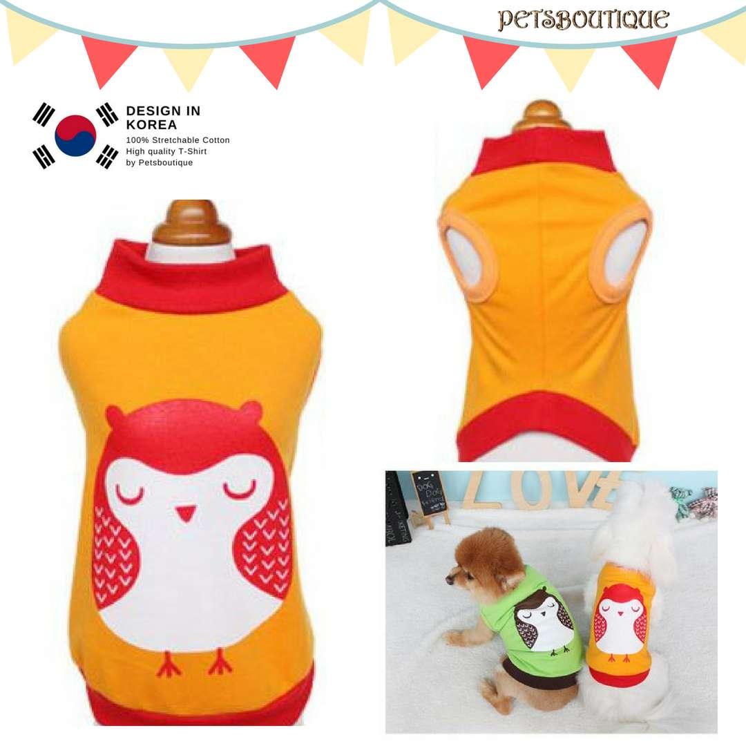 Korea Pet Tshirt - Midnight Owl Photo