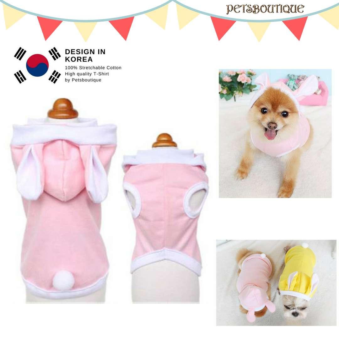 Korea Pet Tshirt- Bunnies Photo