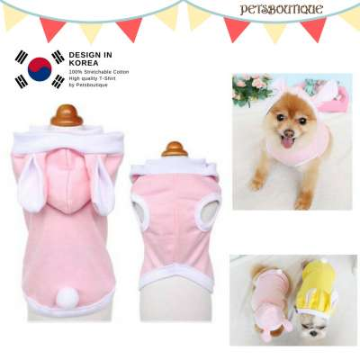 Korea Pet Tshirt- Bunnies Photo