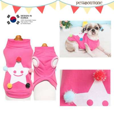 Korea Pet Tshirt - Pink Star Photo