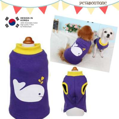 Korea Pet Tshirt - Purple Whale Photo