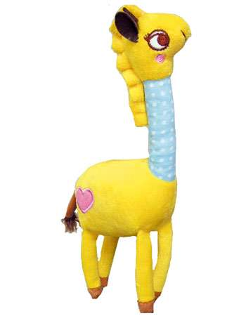 Petz Route - Plush and Chewing Toys - Squeaky + Bell - Giraffe Photo