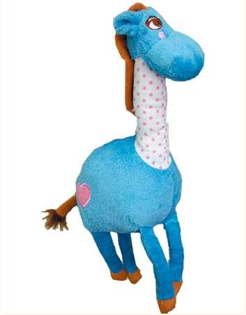 Petz Route - Plush and Chewing Toys - Squeaky + Bell - Donkey Blue Photo